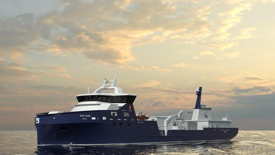 Den nye brønnbåten er basert på Kongsberg NVC 389 designet.