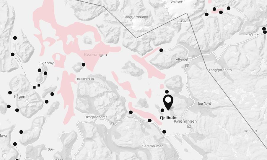 På lokalitet Fjellbukt i Kvænangen kommune i Troms fylke mistenker Fiskeridirektoratetet ILA-utbrudd. Foto: Mowi