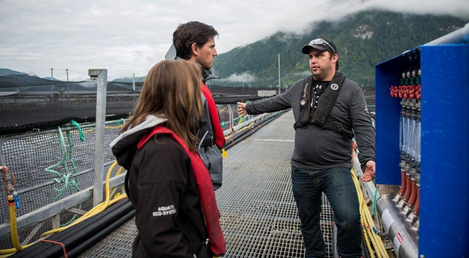 Mowi Canada West now has 23 salmon farms certified to the ASC Salmon Standard. Photo: Bruce Vizueta / Mowi.