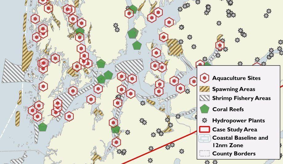 Kartet viser hvor omfattende aktivitet det er i det aktuelle området i Hordaland. Illustrasjon: HI