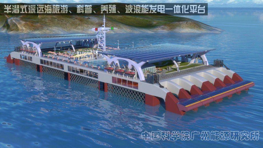Ilustración de cómo quedaría la plataforma semisumergible. Foto: FIS.