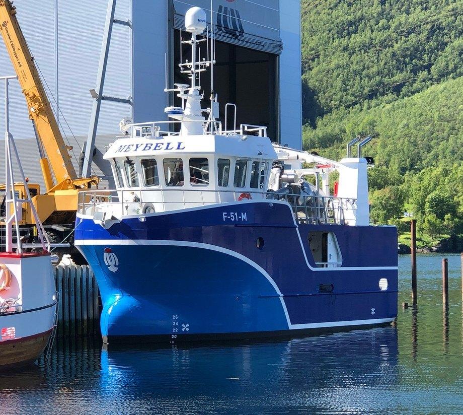 Stig og Liv Meyer har tatt over nybygget «Meybell» Foto: Grovfjord Båtbyggeri