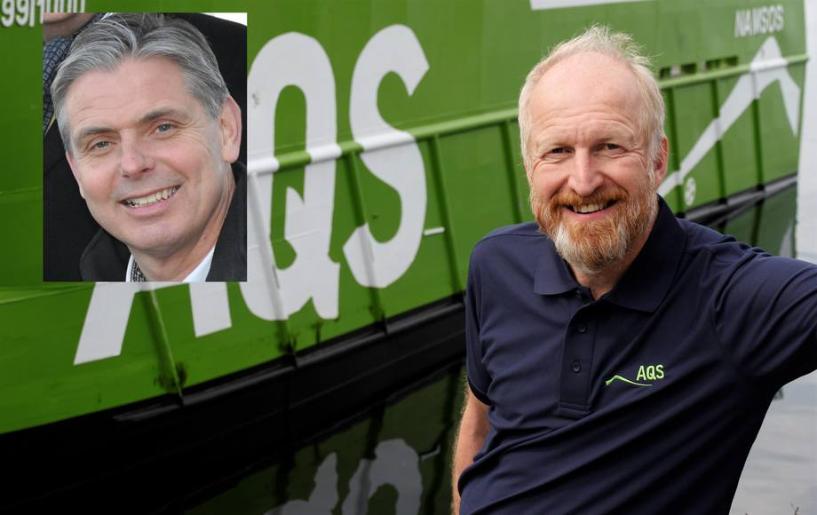 Frode Blakstad og Ove Løfsnes er blitt hhv styreleder og daglig leder i AQS. Foto. AQS