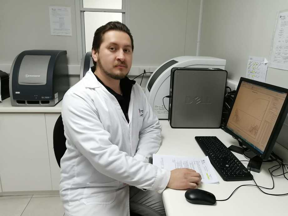 Eduardo Lazo, encargado de desarrollo del Laboratorio de Aquagestión. Foto: Aquagestión.