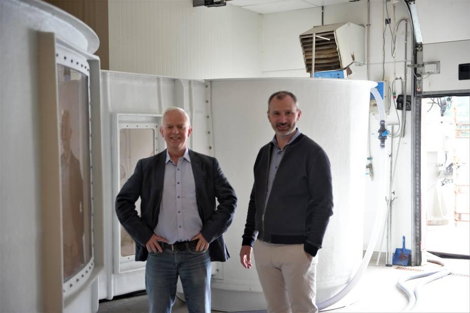 Bildet fra venstre: Hans Petter Selstad og Endre Kvalheim. Foto: Selstad