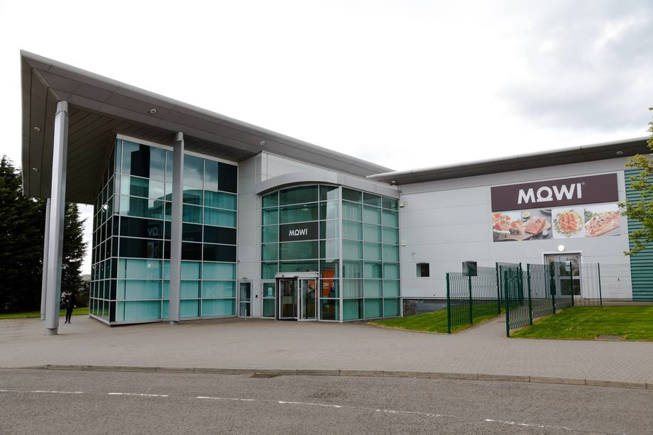 Mowi's consumer products facility at Rosyth in Fife. Mowi Scotland made EBIT per kilo of €2.90 in Q2. Photo: Mowi.