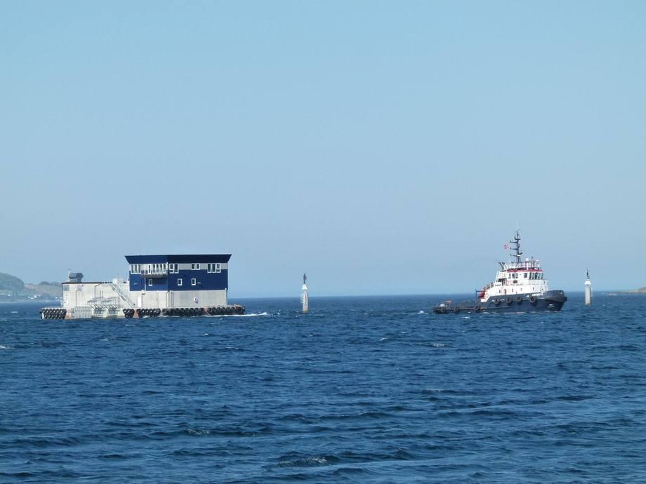 Den nye flåten er nå på vei til Hammerfest. Foto: Marine Construction