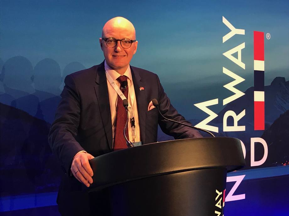 Hans Frode Kielland Asmyhr is concerned about the effects of Boris Johnson's Brexit plans. Photo: Christina Neumann / Norwegian Seafood Council
