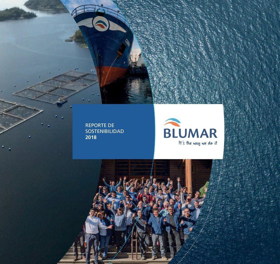 Portada de tercer Reporte de Sostenibilidad de Blumar. Foto: Blumar.