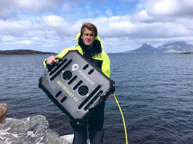 Mørenot Robotics kan komme til å vinne innovasjonsprisen til Nor-Fishings under årets Akva Nor. Foto: Mørenot