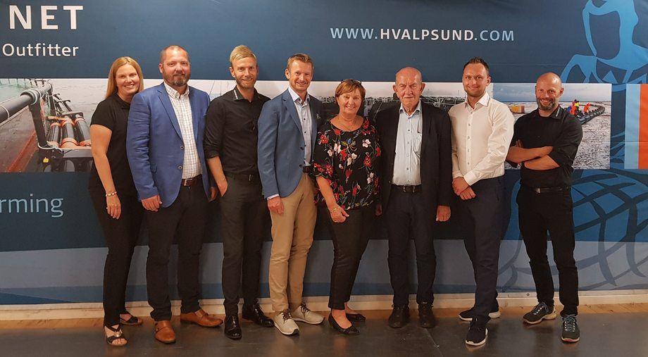 Hvalpsund Net, som leverer utstyr og tjenester til kunder innen fiskeri og havbruk, har vokst jevnt og trutt over mange år. Foto: Mørenot