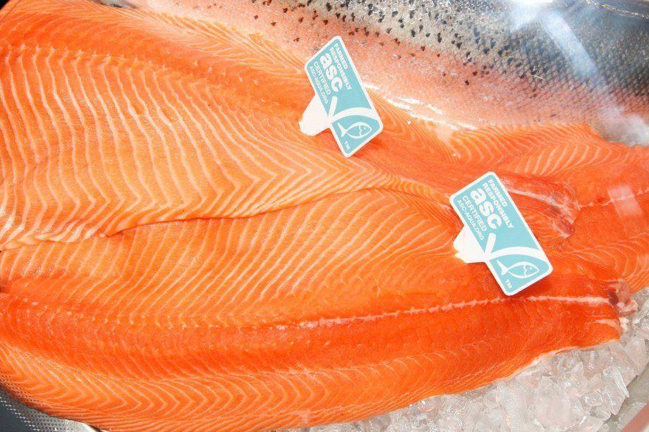 Salmón certificado ASC. Foto: Aquaculture Stewardship Council.