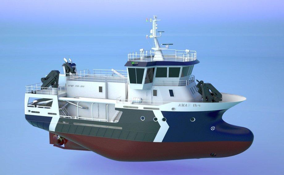 Ifølge Amar Shipping er fartøyet utrustet med alt nødvendig utstyr for sikkert og effektivt fortøyningsarbeid. Foto: Amar Shipping.