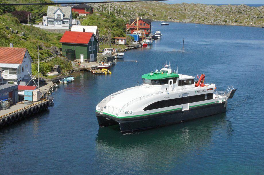 «Fjordøy» er den andre hybride hurtigbåten som GS Marine overleverer til Norled. Foto: GS Marine