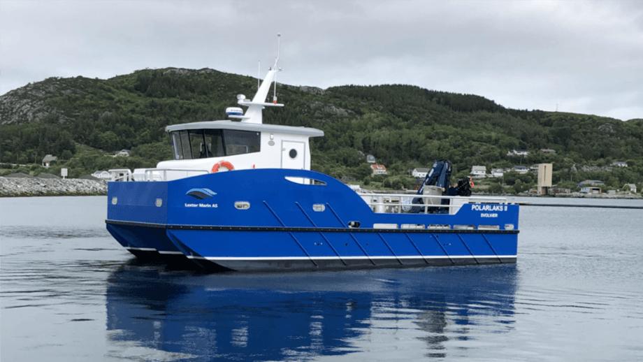 «Polarlaks II» ble overlevert til Isqueen i juli. Foto: Lextor Marin