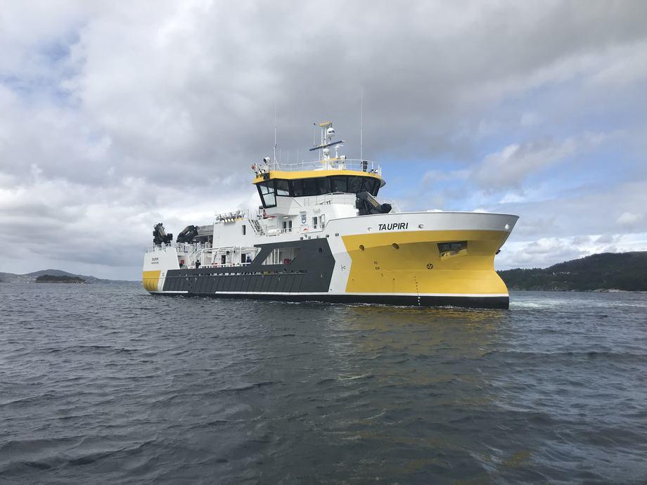Prosessbåten «Taupiri» er nå overlevet til Napier