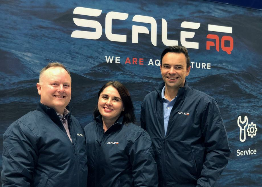 From left: David Wright, Nicole Wright and Jørn Torsvik. Photo: ScaleAQ.