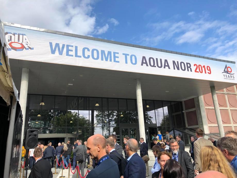 Under årets Aqua-Nor ventes det i overkant av 600 utstillere fra 26 land, og mer enn 27 000 besøkende fra opptil 75 land. Foto: Ole Andreas Drønen.