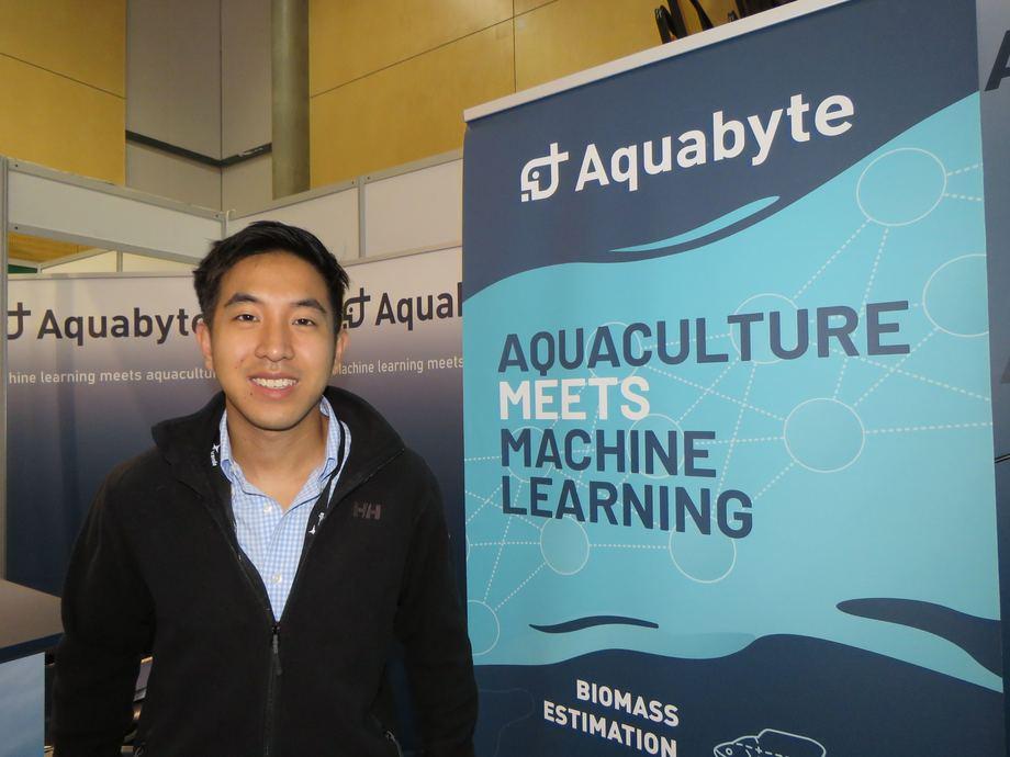 Bryton Shang, fundador de Aquabyte, cuya tecnología llegará el próximo año a Chile. Foto: Karla Faundez, Salmonexpert.