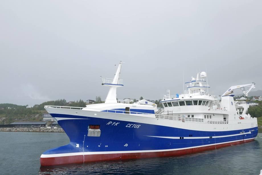 Nybygget «Cetus» er levert til sine nye eiere. Foto: Fitjar Mek.