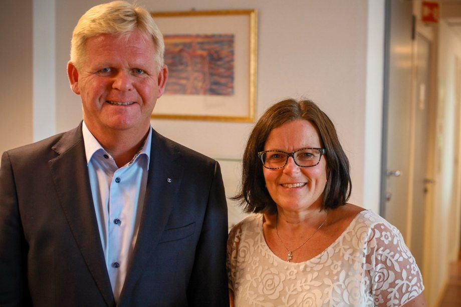 Konsernsjef Roger Granheim og økonomidirektør Grete Rekkebo Brovoll i Torghatten kan være fornøyd med første halvår. Foto: Pressefoto/nordnorsk Kommunikasjon