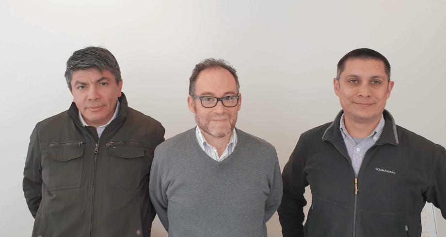 Héctor Chocobar, Claudio Pavez y Patricio Contreras. Foto: Salmonexpert.