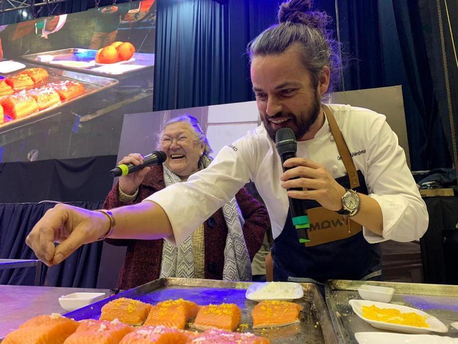 El reconocido chef chileno, Carlo von Mühlenbrock. Foto: Mowi.