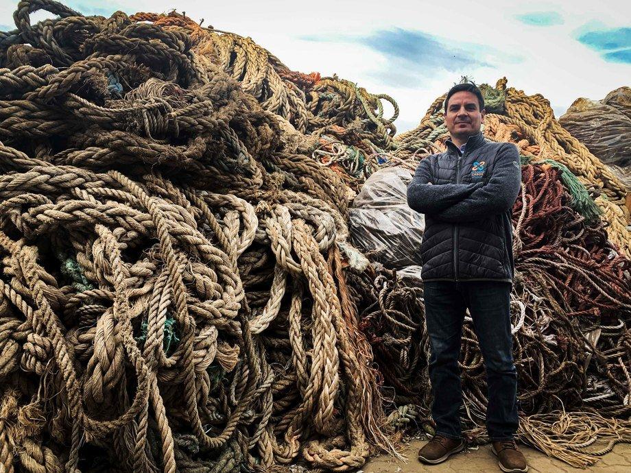 Cabos, redes y boyas son los residuos que más pueden resistir en condiciones extremas. Foto: Comberplast.