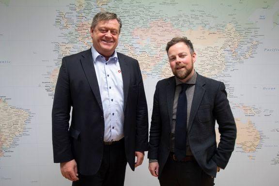 Fiskeri- og sjømatminister Harald T. Nesvik og næringsminister Torbjørn Røe Isaksen skal til London neste uke. Foto: NFD.