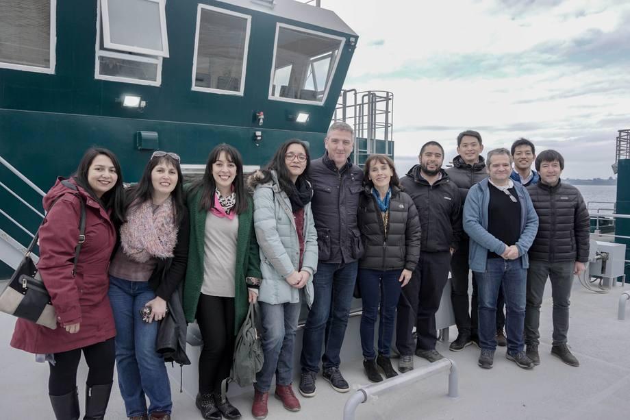 La empresa valoró la seguridad y habitabilidad de sus nuevos pontones. Foto: Cermaq Chile.