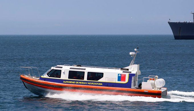 Imagen referencial de nueva embarcación con la que contará Sernapesca para labores de fiscalización en Magallanes. Foto: Sernapesca.