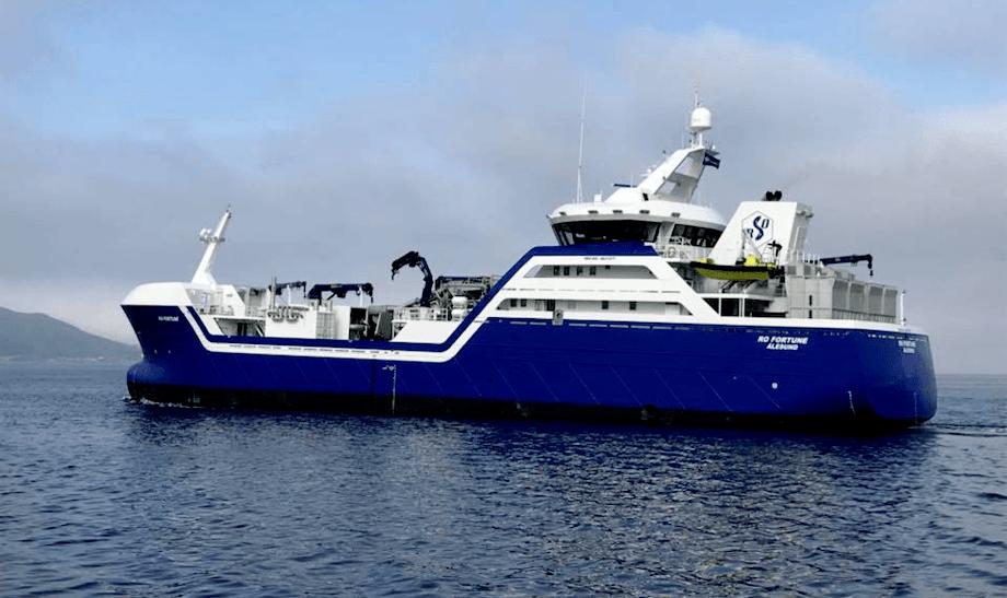 Imagen de lo que será el primer wellboat híbrido del mundo. Foto: Archivo Salmonexpert.