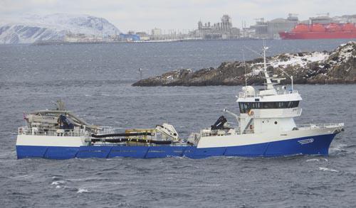 Fartøyet er 46,52 meter lang og 9,5 meter bred. Foto: Barentswatch/Roger Solem
