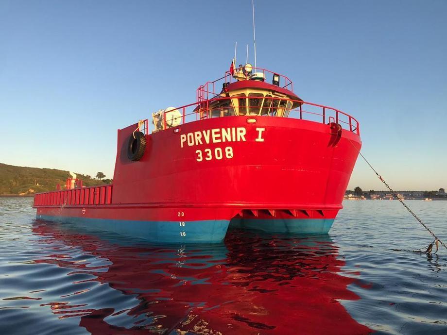 """""""Porvenir I"""" fue bautizado la semana pasada en Puerto Montt. Foto: Badinotti."""