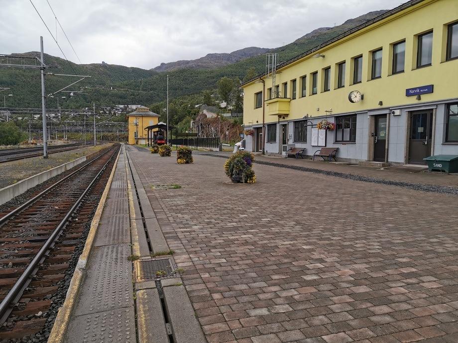 Narvik togstasjon, aug 2019 Foto: Gustav-Erik Blaalid