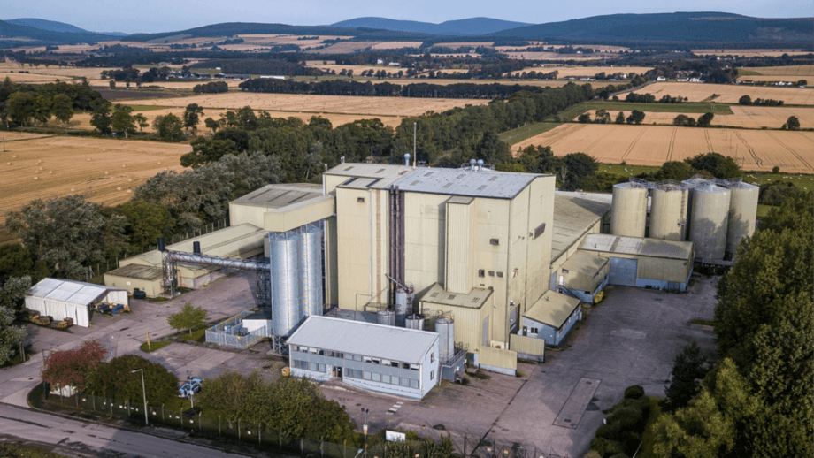 The former Skretting feed mill at Invergordon has been bought by Cooke. Photo: Cooke.