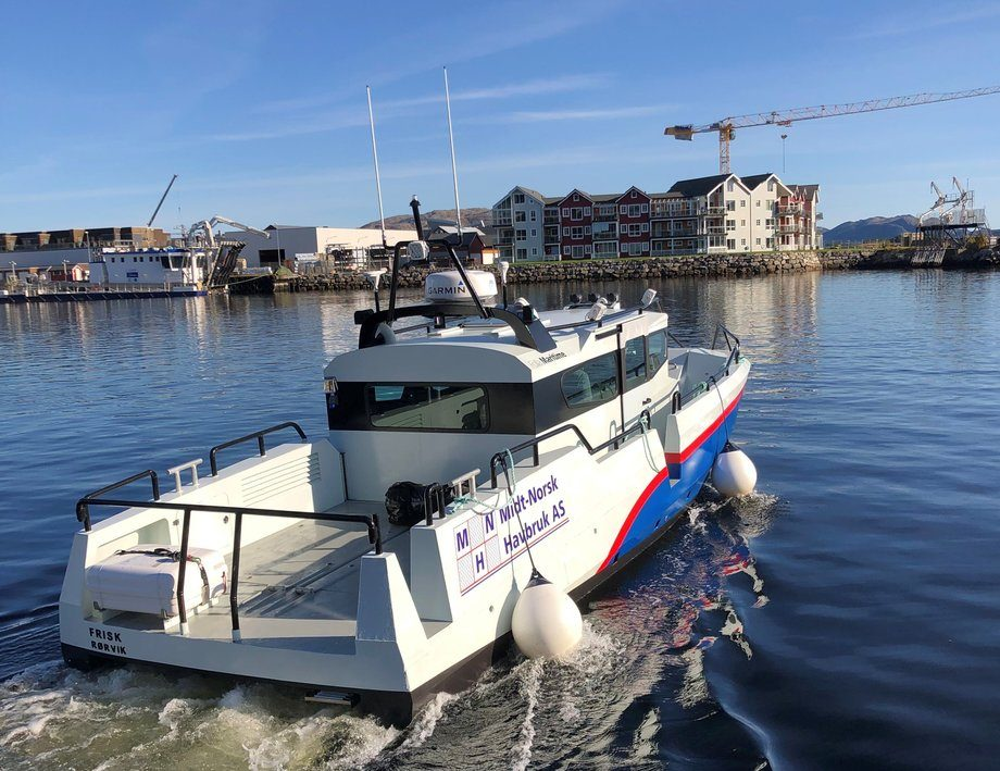 Det nye fartøyet levert av Folla Maritime Service har fått navnet «Frisk». Foto: Folla  Maritime Service AS.