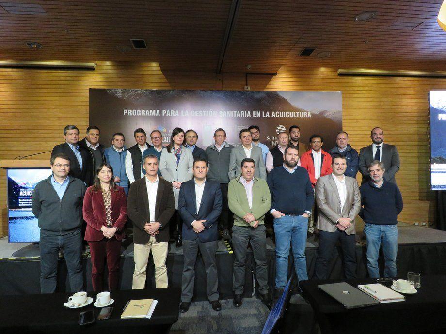 Representantes de las distintas empresas participantes del PGSA. Foto: Salmonexpert.