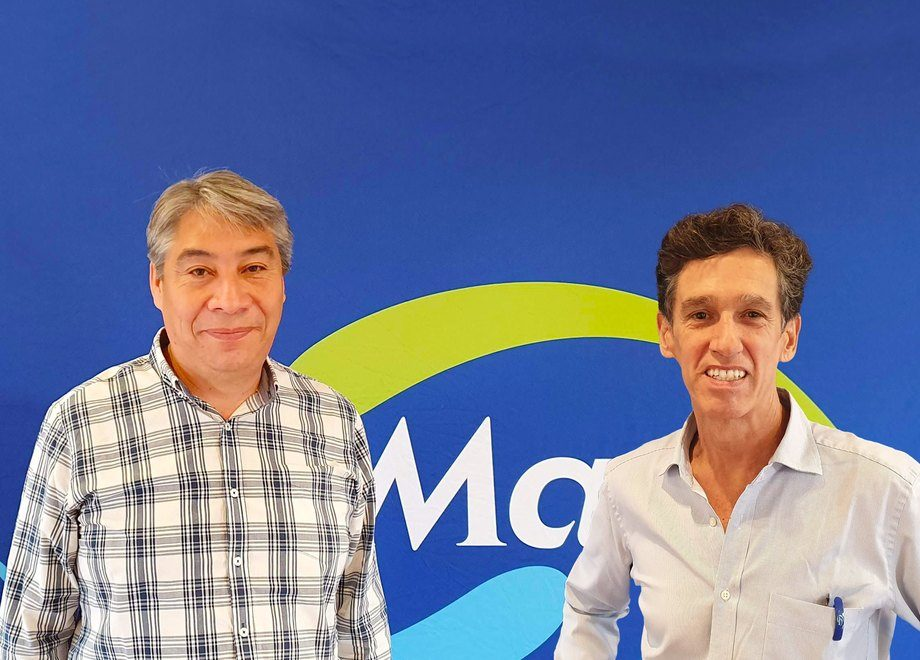 Joel Barraza y Raúl Piedrahita. Foto: Salmonexpert.