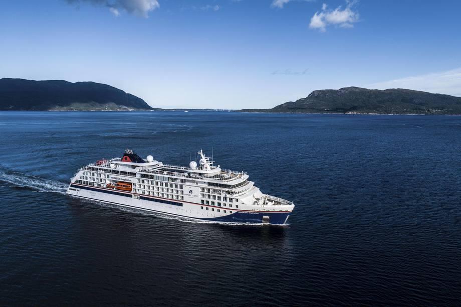 «Hanseatic Inspiration» er det andre fartøyet Vard leverer til Hapag-Lloyd Cruises. Foto: Uavpic.com