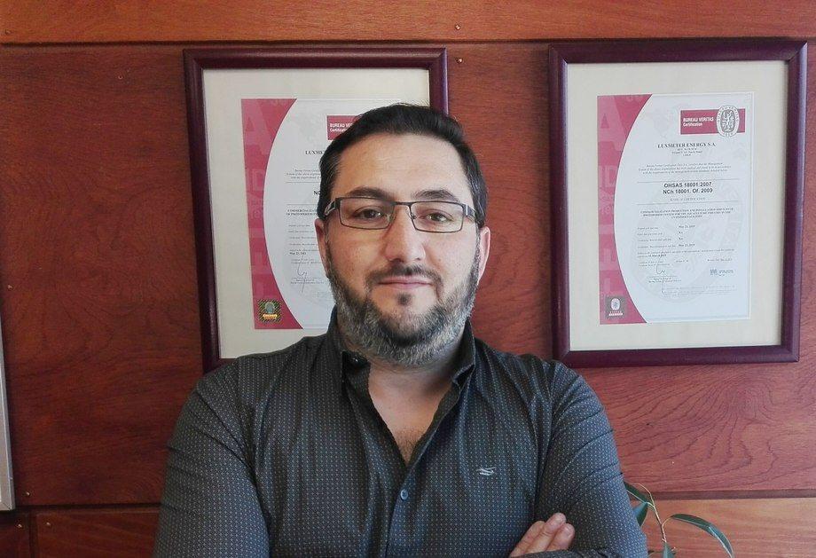 Robinson Cárcamo, nuevo gerente de Operaciones y Mantención de Luxmeter. Foto: Luxmeter.