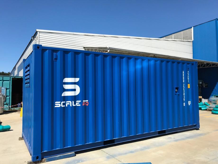 Imagen referencial de un contenedor de dos silos. Foto: ScaleAQ.