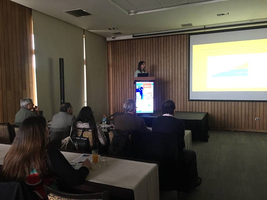 Paulina Artacho en su presentación en actividad organizada por CREAN-IFOP. Foto: Karla Faundez, Salmonexpert.