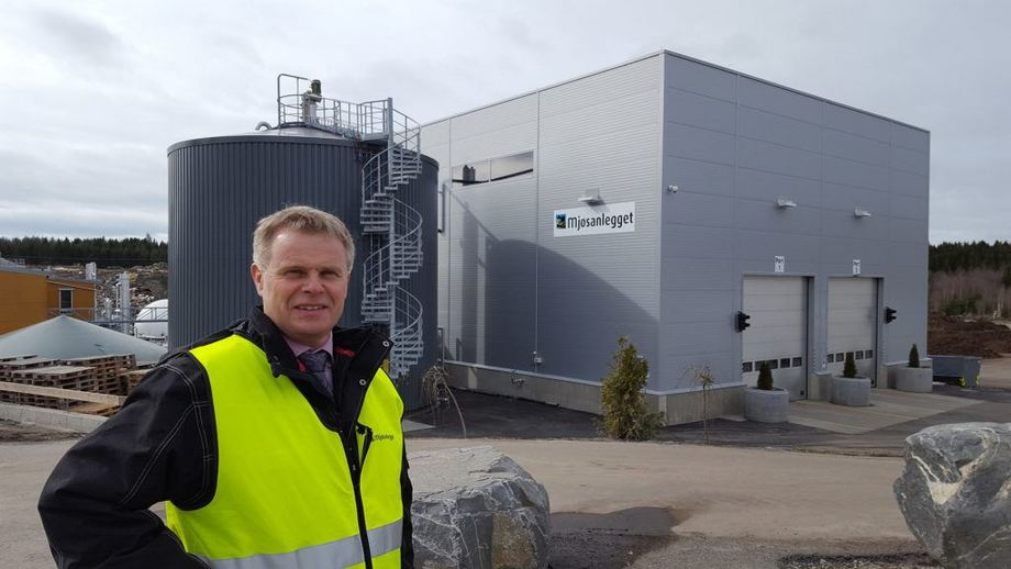 The general manager of the Mjøs plant, Tom Werven, is happy to accept more fish waste to convert it into energy. Photo: Mjøsanlegget.