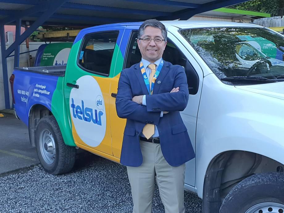 Andrés Saldías, subgerente Comercial Empresas Zona Sur Austral, de Telsur. Foto: Telsur.