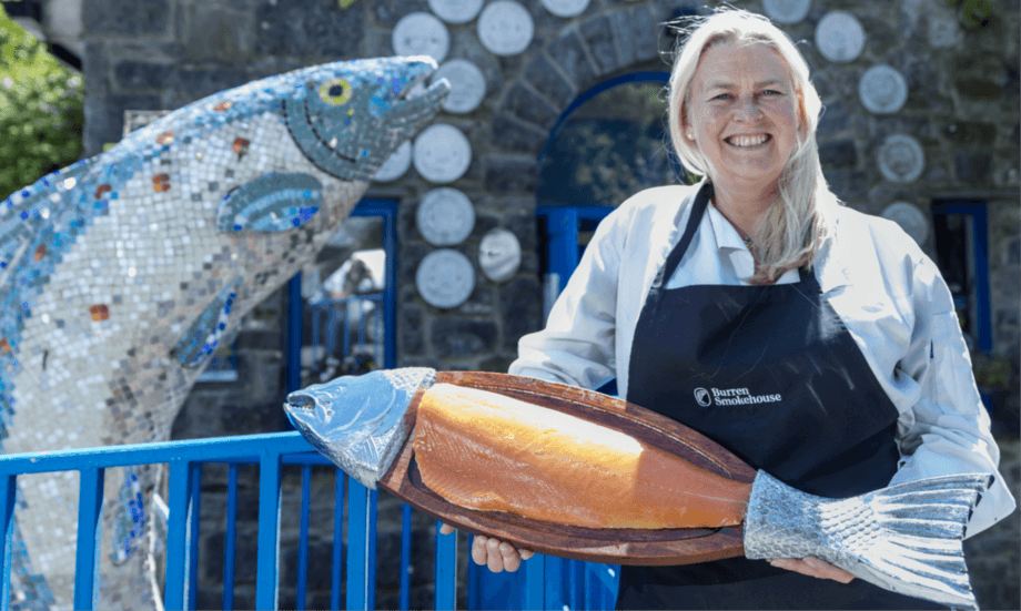 Birgitta Hedin-Curtin is owner and manager of the Burren Smokehouse and of the new visitor experience. Photo: BIM.