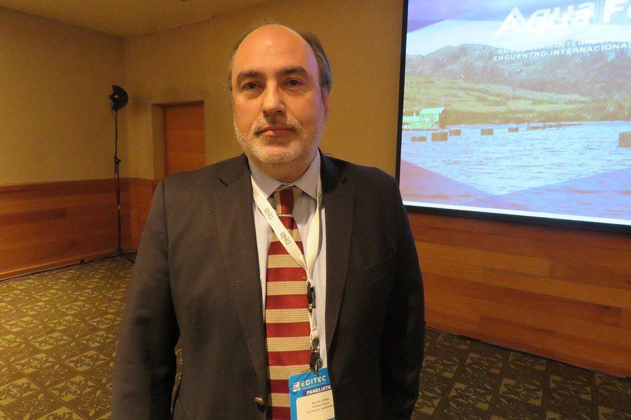 Subsecretario de Pesca y Acuicultura, Román Zelaya. Foto: Jonathan Garcés, Salmonexpert.