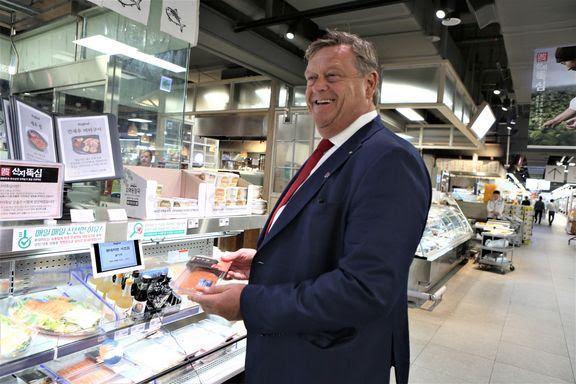 Denne uken var fiskeri- og sjømatminister Harald T. Nesvik i Sør-Korea. Foto: NFD.