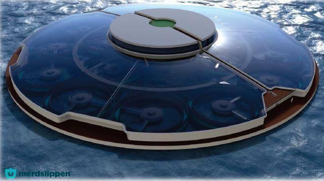 El concepto Reset es una planta RAS cerrada en el mar. Ilustración: Dirección de Pesca de Noruega.