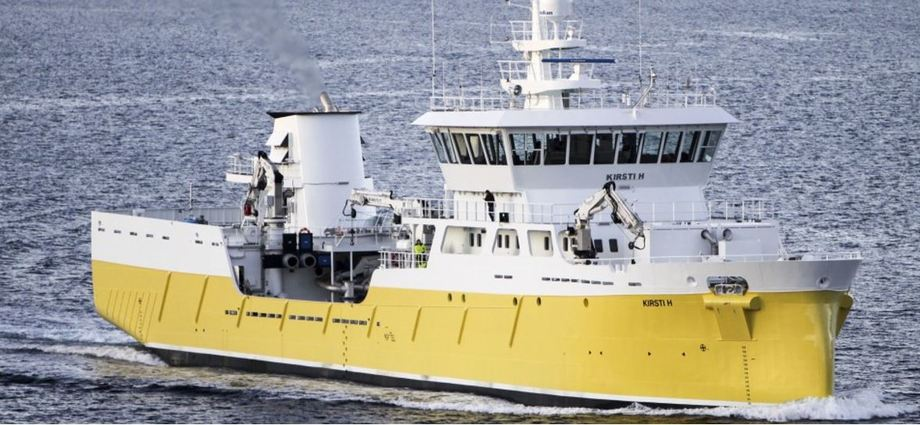 The Kirsti H is a modern wellboat with thermal delousing capability. Photo: Intership.